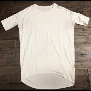 XXS White LuLaRoe Irma Shirt